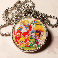 Rainbow Brite and the Color Kids 80s Cameo Necklace