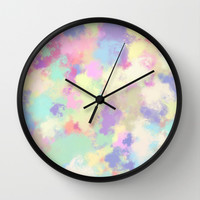 splash of color; Wall Clock by Pink Berry Patterns