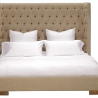 Carlton Tufted Burlap Bed,