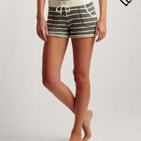 LLD Striped Terry Shorty Shorts - Aeropostale