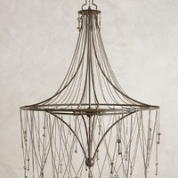 Skeleton Key Chandelier by Anthropologie in Black Size: One Size Lighting