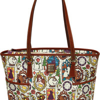 Disney Dooney & Bourke Beauty And The Beast Shopper Tote New Belle with Tags