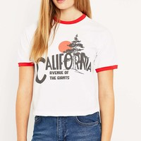 Urban Renewal Vintage Customised Avenue of the Giants Ringer T-shirt - Urban Outfitters