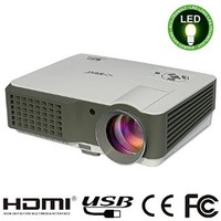 """EUG TV Projector 120"""" support HD 1080p Video 2500 Lumen LCD Home Theater Projectors HDMI USB SD AV VGA Audio in/out LED Lamp up to 50000 hours"""