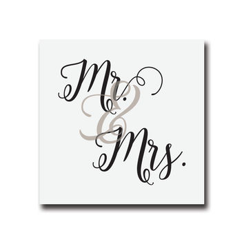 30 Mr and Mrs Gray Wedding Stickers, 2 x 2 Inches