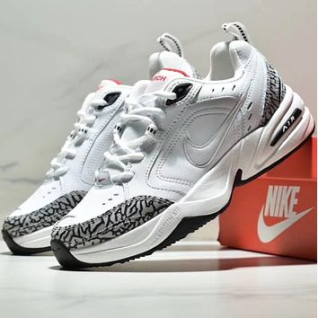 NIKE AIR M2K TEKNO Fashion of Leather Retro-fashion Show-style Daddy Shoes Running Shoes