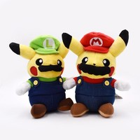 "Super Mario party nes switch  Pikachu Plush Toy Cute Pikachu Cosplay  Stuffed Soft Dolls 9"" 22 CM Kids Birthday Gift    AT_80_8"