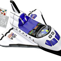Aeromax Jr Inflatable Explorer Space Shuttle with Hat and Coloring Book