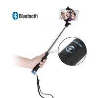 Selfie Stick, Poweradd™ Bluetooth Extendable Selfie Stick Monopod Handheld Adjustable Cell Phone Clip with Remote Shutter [Free Installation ] for iPhone 6 5S 5C 5 4S 4, Samsung Galaxy S6 5 4 3, Note 4 3 2, LG G3, HTC One M8, Sony Xperia Z3 Z2, Google Nexu