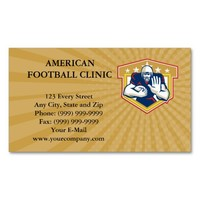 Business card American Football Running Back Fendi