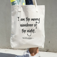 Midsummer Night's Dream Tote - Book Bag - William Shakespeare Quote - Literary Quote Tote Bag - Word Art Shopping Tote