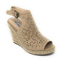 ONETOW Not Rated Jobyna Nude Wedge Sandals