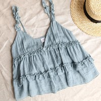 Frill of Life Flowy Frill Tank Top - More Colors
