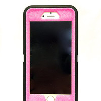 iPhone 6 (4.7 inch) OtterBox Defender Series Case Glitter Cute Sparkly Bling Defender Series Custom Case  black / pink