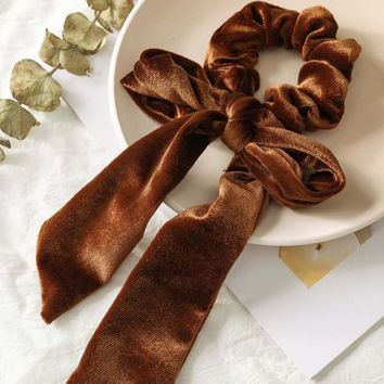 Velvet Scrunchie in Cedar