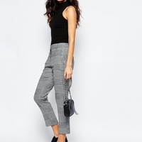 River Island Check Tapered Trouser at asos.com