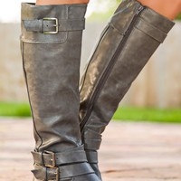 50 Shades Of Fall Boot-Gray - NEW ARRIVALS
