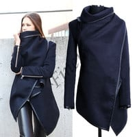 Women's Boyfriend Style Wool Long Trench Warm Slim Jacket Coats Overcoat Outwear  SV005043 (check our size chart for reference please) = 1830060676