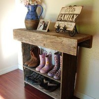 Farm House Table for your Entry Recycled Cedar 3 by TRUECONNECTION