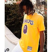 a bathing ape bape x mitchell ness tee nba 2