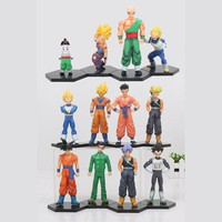 4pcs/set Dragon Ball Z Figure Resurrection F Battle of Gods Super Saiyan Son Goku Gohan Vegeta Future Trunks PVC Action Figure