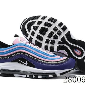 HCXX 19July 995 Nike Air Max 97 Have A Nike Day Flyknit Breathable Running Shoes