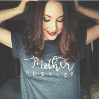 Mother Hustler Rose Gold Tee