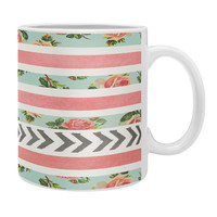 Allyson Johnson Floral Stripes And Arrows Coffee Mug