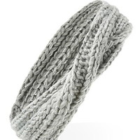 Metallic Knit Twisted Headwrap