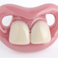 Cool Stuff - Billy Bob Two Front Teeth Baby Pacifier, Pink Lips