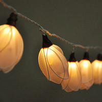 35 Bulbs White Flower - Flower String Lights for Home Decoration,Wedding,Party,Bedroom,Patio and Decoration