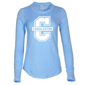 NCAA College of Charleston Highlanders - 03CC-1 Women's Long Sleeve Slub Tee Shirt
