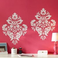 White Damask Decal