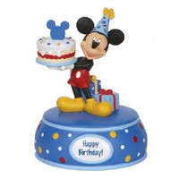 Mickey Mouse With Cake - Musical - Precious Moments
