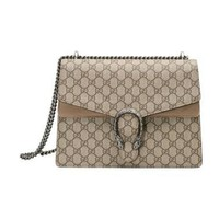 Gucci. Women Coated Canvas Suede Leather Shoulder Bag  Gucci bag