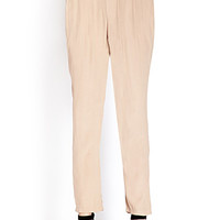 Crepe Woven High-Waisted Trousers