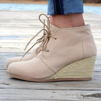 The Olee Bootie {Taupe Canvas}