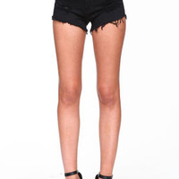 Cut Off Black Shorts - LoveCulture