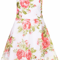 **ROSE PRINT SWEETHEART PROM DRESS BY RARE