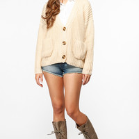 Chunky Over Sized Button Up Sweater