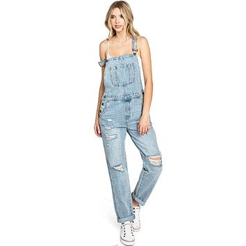 Mineral Distressed Overalls