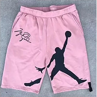 AJ AIR JORDAN 2018 new men's new color trend wild shorts F0684-1 Pink