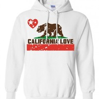 California Love Sweatshirt Hoodie - White Small