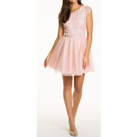 Le Chateau Shimmering Soutache Mini Dress - Shop for Womens Clothing , Dresses online at Dukanee.com