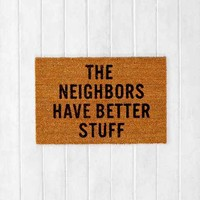 Reed Wilson Design My Neighbors Mat- Brown 2 X 3