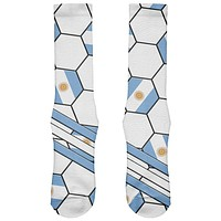 World Cup Argentina Soccer Ball All Over Soft Socks
