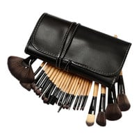 """24-piece Professional Make-Up Brush Set with Case - Free Boyz II Men Single Cd with purchase - Song  """"I'll Make Love to You!"""""""