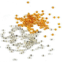 Glass Seed Beads - Silver or Gold - 10gm - Jewellery, Costume & Craft Supplies by DeeDeeSupplies