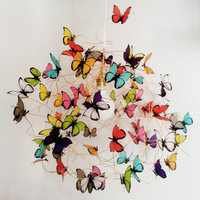 "Lamp with multicolor butterflies ""Tutti Frutti XL"""