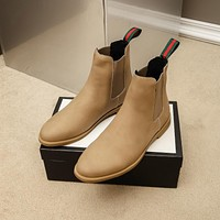 Gucci Men Fashion Boots fashionable Casual leather Breathable Sneakers Running Shoes 01